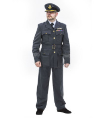WW2 British RAF Group Captain uniform with KC Buttons, Sewn in Belt, padded KC wings