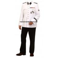WW2 German SS dress uniform - white cotton tunic and black tricot trousers
