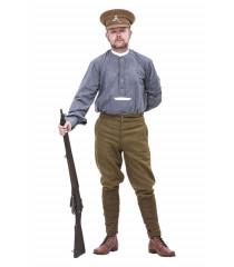 WW1 Grey Back collarless shirt