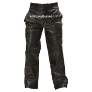 WW2 German U boat Kriegsmarine Black leather trousers