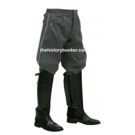 German Officer Tricot Breeches - White Piped Waffenrock