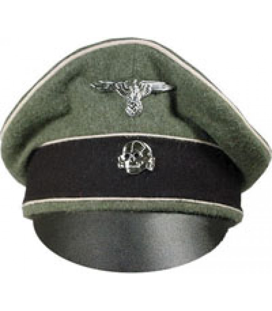 Waffen SS Field Grey Crusher cap c19f7c7f451