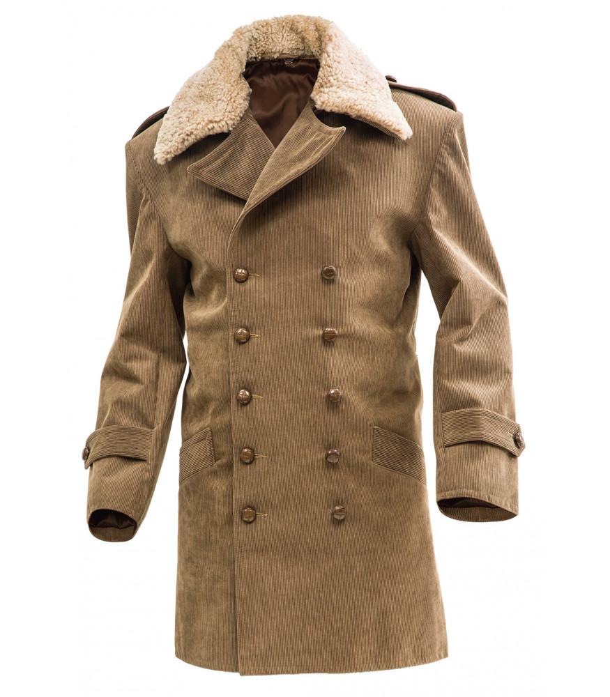Sheepskin fur flight jacket