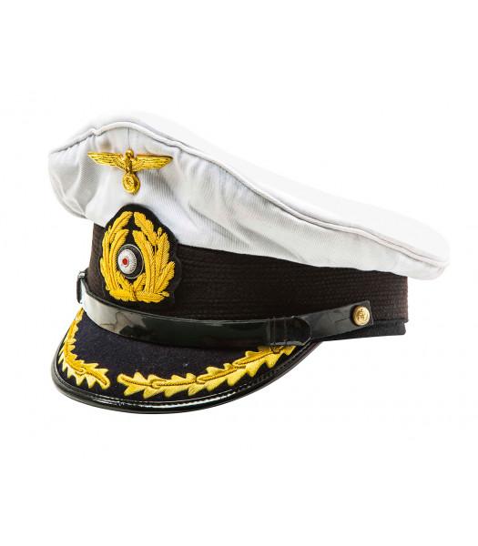 Kriegsmarine Captain Visor  Cap white top