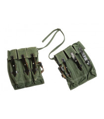 German MG43 Canvas Ammo Pouches - Green