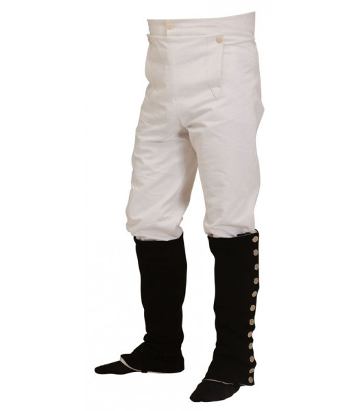 Napoleonic uniforms - British and French Front fall cotton duck trousers - Napoleonic uniforms