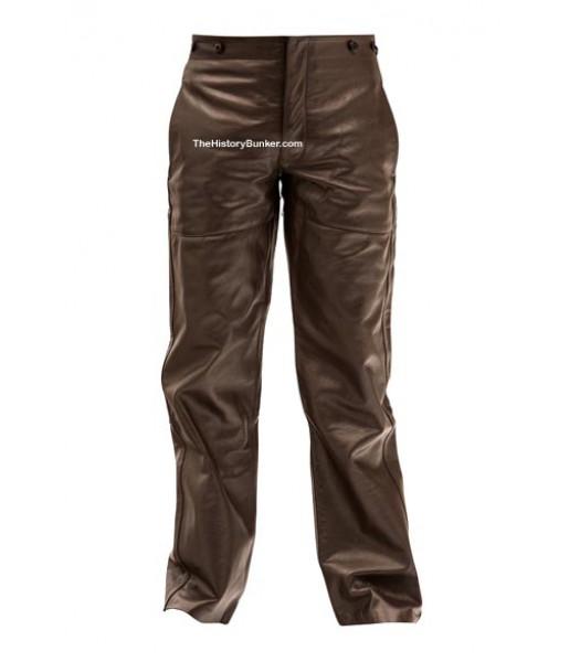 WW2 German U boat Kriegsmarine BROWN leather trousers