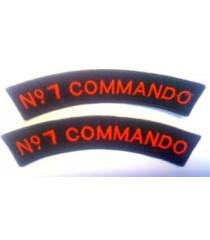 No 7 Commando shoulder titles