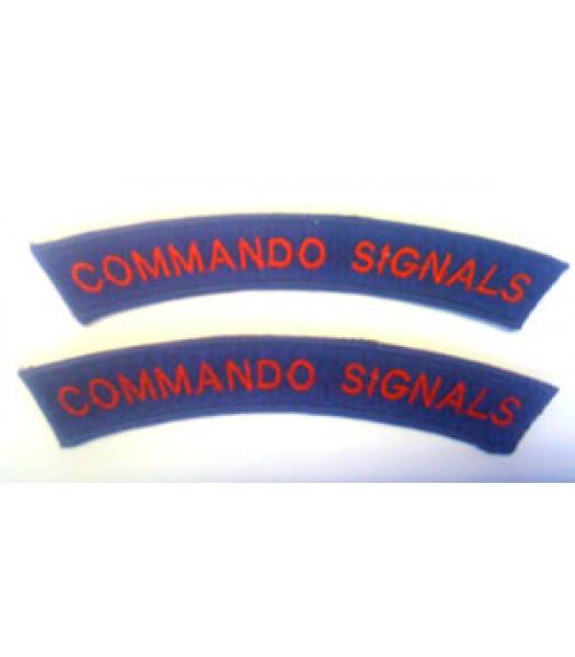 Commando Signals Shoulder Titles