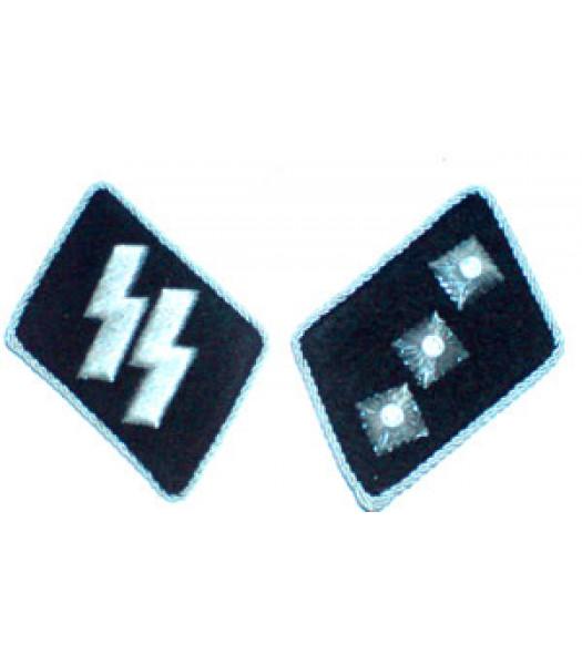 SS Untersturmfuhrer (2nd Lieutenant) Collar Tabs