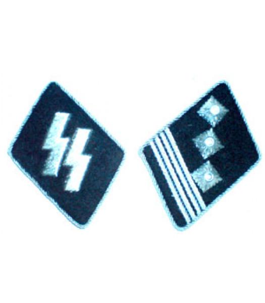SS Haupsturmfuhrer (Captain) Collar Tabs