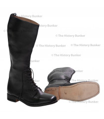 WW1 British Army officer lace up boots - BLACK