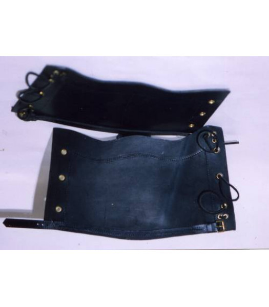 Victorian British Army replica leather gaiters