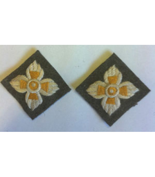 WW2 Intelligence Korps Pips - 1 Pair - British Insignia