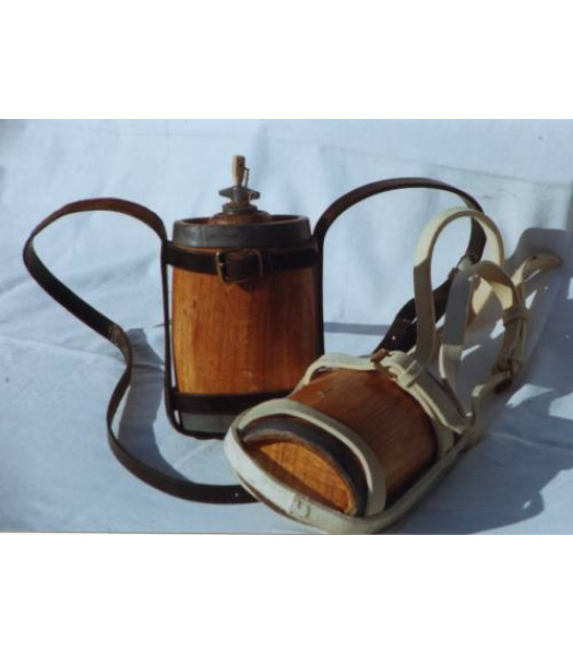 Victorian British Army waterbottle and carriage
