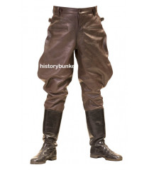 WW2 German style BROWN M32 leather breeches