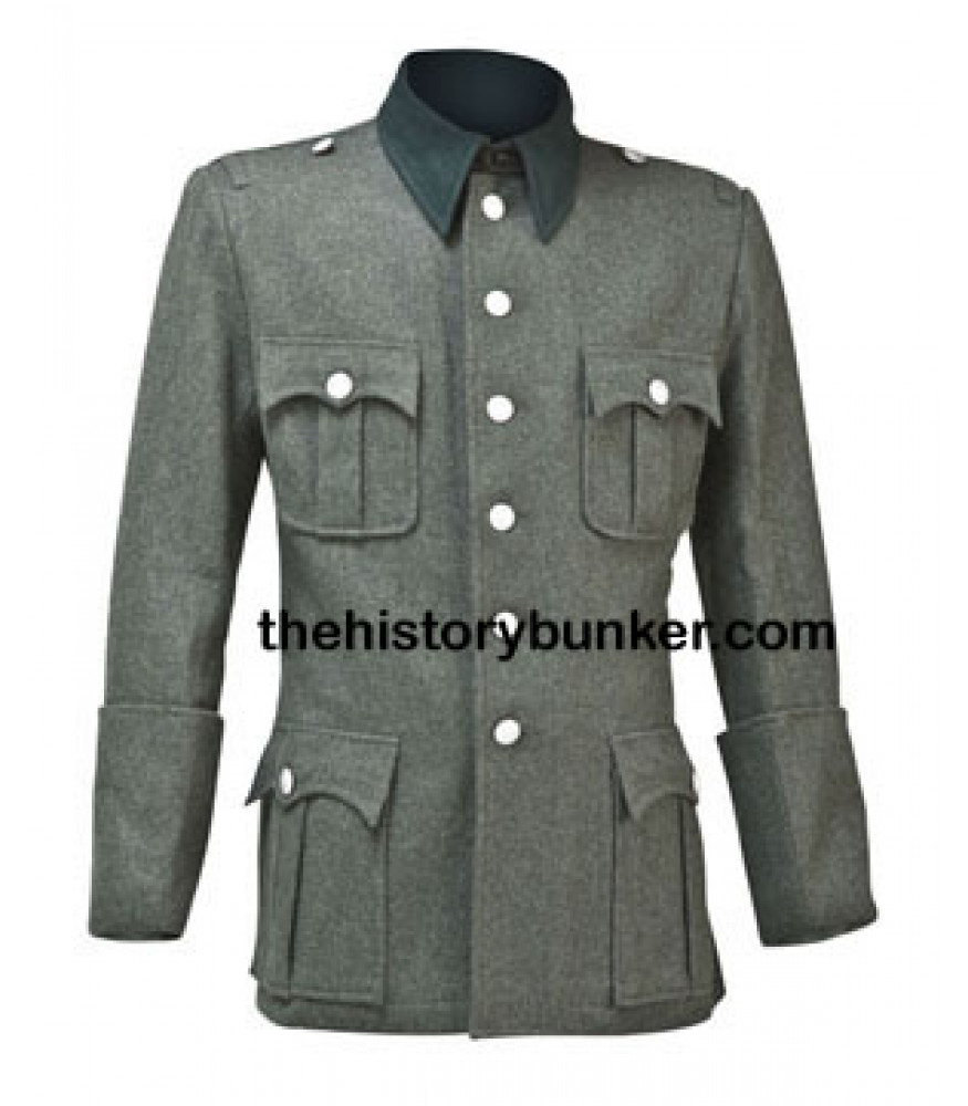 German Army M36 Field Grey Wool Tunic WW2 Repro Uniform Jacket Military New