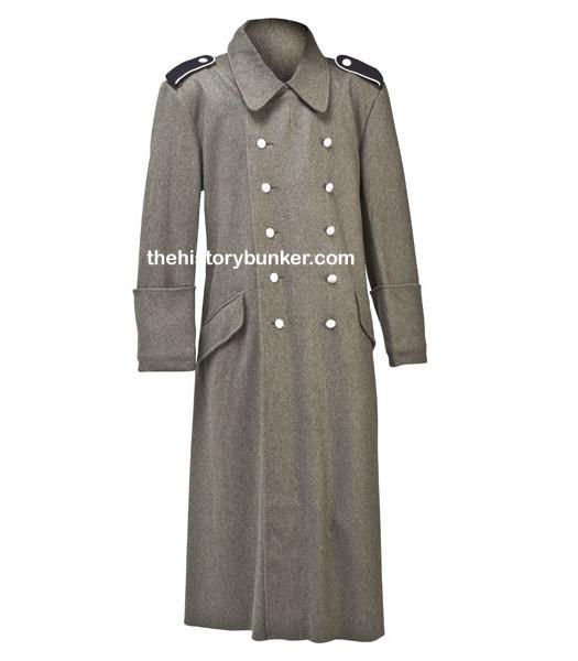 German M40 Field Grey Overcoat - For Hire