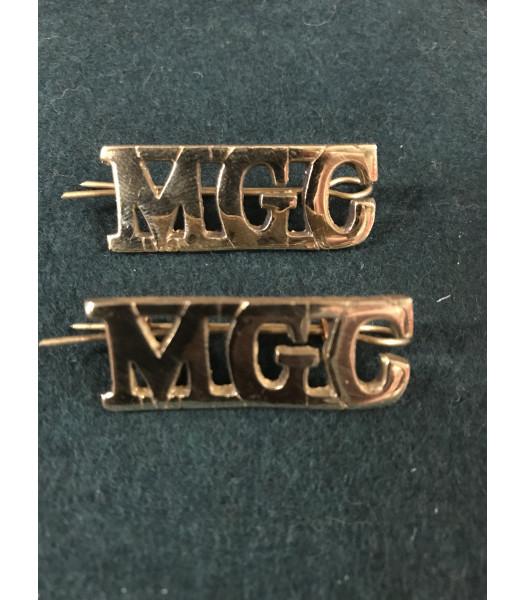 Machine Gun Corps shoulder titles WW1