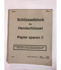 MILITARY PROP HIRE - German WW2 spare paper notebook