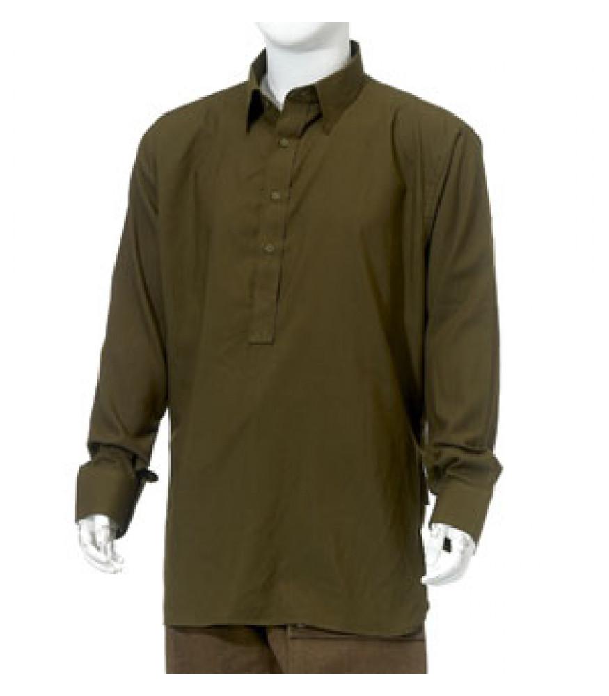 Ww2 British Army Officers Shirt Dark Green