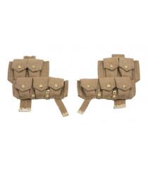 WW1 British army p08 webbing SMLE ammo pouches - 1 x pair