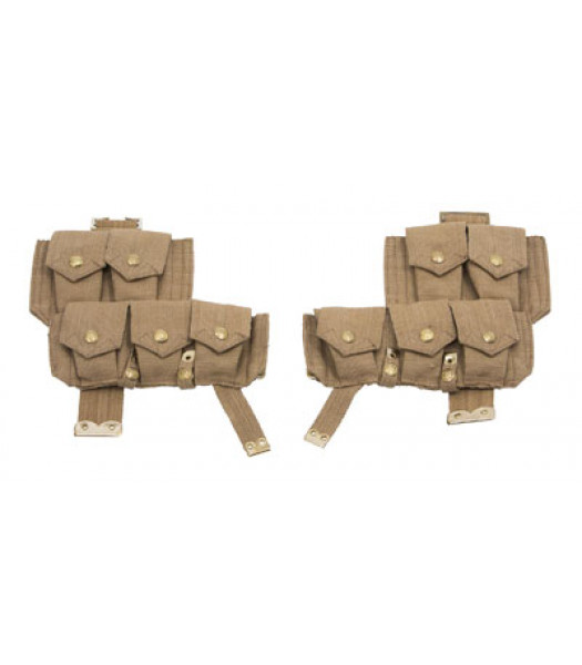 WW1 British army p08 webbing SMLE ammo pouches - 1 x pair