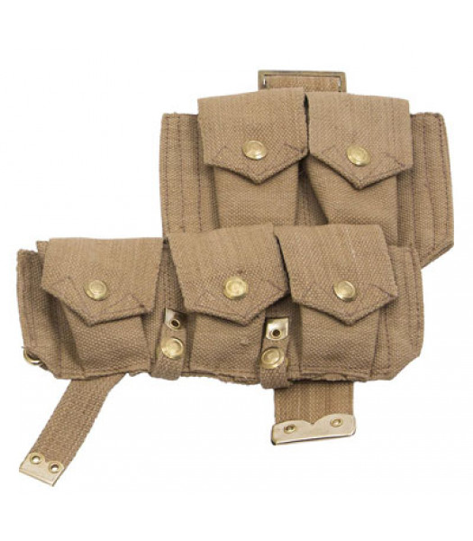 WW1 British army p08 webbing SMLE ammo pouch - left side