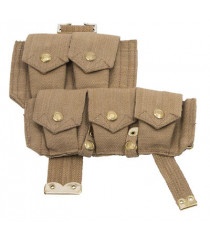 WW1 British army p08 webbing SMLE ammo pouch - right side
