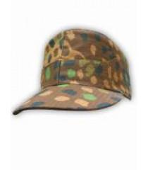 German M44 Waffen SS Field Cap - Pea/Dot Camouflage