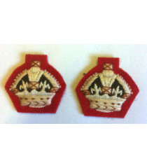 WW2 Infantry Korps Crowns 1 Pair - British Insignia