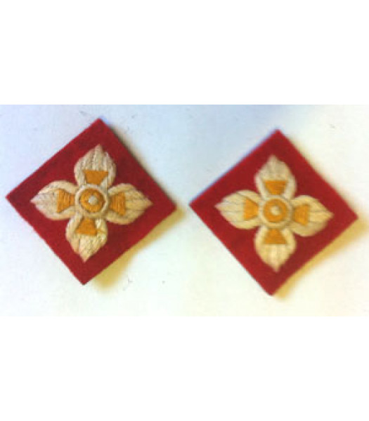 WW2 Infantry Korps Pips - 1 Pair - British Insignia