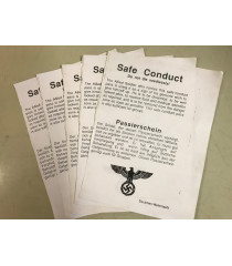 MILITARY PROP HIRE - Safe Conduct passes - ww2 german