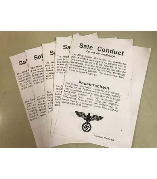 MILITARY PROP HIRE - Safe Conduct pass - ww2 german