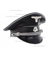 SS m32 tricot visor in leather  - WW2 German officers cap