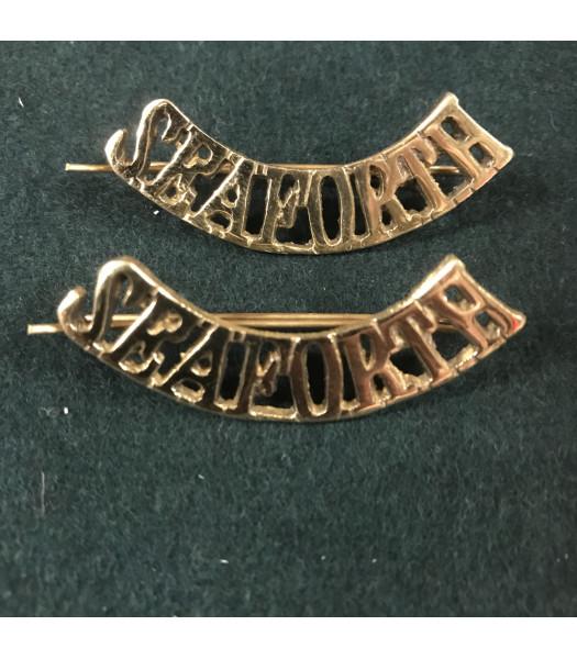 Seaforth Highlanders shoulder titles WW1