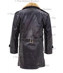 Czech Sniper leather coat - BLACK