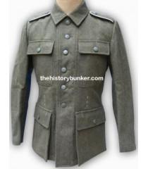 German M43 Field Gray EM Feldbluse Without Insignia