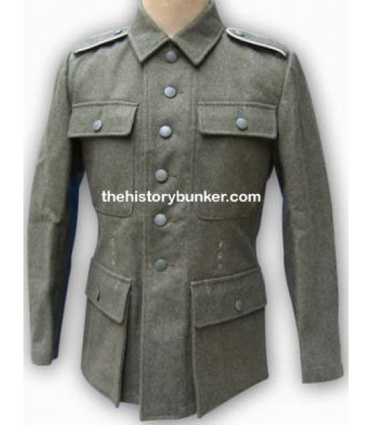 German M43 Field Gray EM Feldbluse Without Insignia
