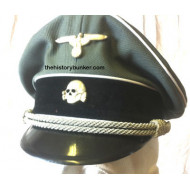Tricot SS visor - WW2 German officers cap