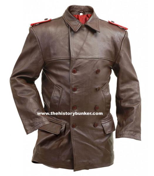 U-Boat DECK leather jacket - German Navy leather (BROWN) - vintage leather jacket