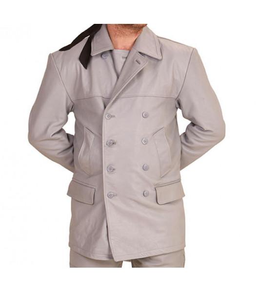 U-boat Kriegsmarine leather Deck jacket - Kriegsmarine leather jacket - GREY - TUNIC ONLY