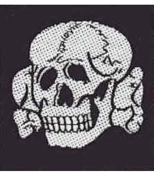 SS Cap Skull hat badge
