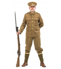 WW1 British Army Soldiers Uniform 1914 with no webbing FOR HIRE